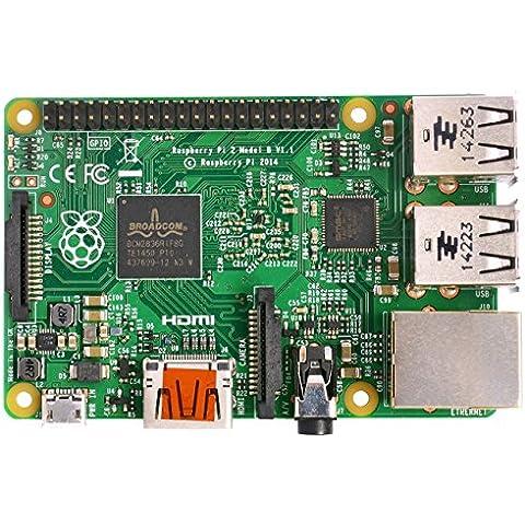 Raspberry Pi 2 Model B - Ordenador de sobremesa (Flash, Multi, 1 x 1 GB, Mini PC)