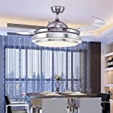 Ventilador Luz (Luz ajustable con fernsteuerungs) Moderno manera fácil LED de Stealth de ventilador de araña/lámpara de techo Adecuado para dormitorio salón Estudio, 106cm