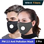 Xtore PM 2.5 Ultra-Comfortable Anti Pollution Mask | Military Grade Quality | Breathing Valve | Anti Dust - Prevents...