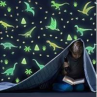 KAIRNE Stickers Muraux Dinosaures Lumineux,Autocollant Muraux Dinosaures Pour Chambre D'enfant/Bébé,Stickers Mural…