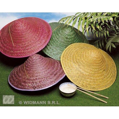WIDMANN Stroh Vietkong 1 von 4 Farben Orientalische Hüte & Kopfbedeckung für Kostüme Zubehör (Stroh Hut Kostüm)