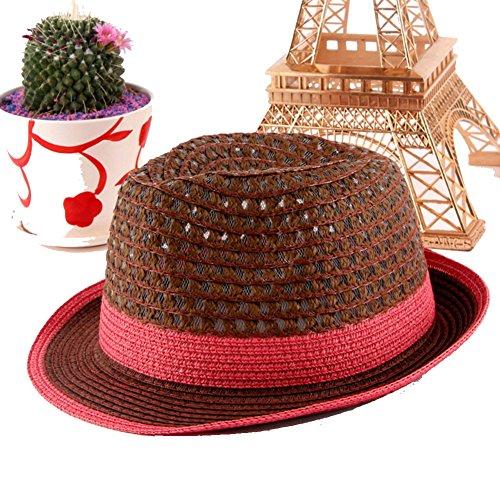 Version coréenne de la chapeau de soleil d'été/Chapeau tissé à la main/Petits chapeaux/Curling court chapeau A