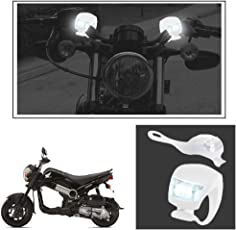 Vheelocityin 2+2 Led White Bike Light with Flashing Mode Motorcycle LED