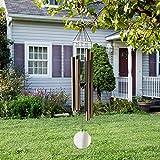 Glas Windspiel 45 cm verschiedene Farben für Haus Garten Balkon Wind Klang Spiel