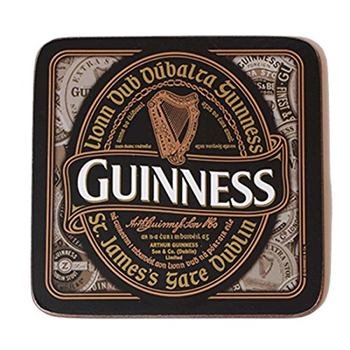 nostalgic-guinness-coaster-with-harp-design-label-and-irish-text-lionn-dub-dubalta-guinness