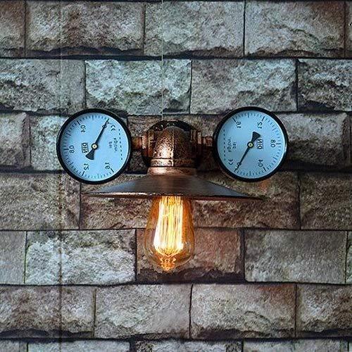 Ceakep Industria de la vendimia del tubo de agua ligera de la pared, E27 hierro Lámpara de pared retro del metal, Restaurante Bar pared lámpara de la linterna, lámpara de pared for Cafe Contador tiend