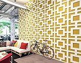HomeArtDecor | Mid Century Modern 3D Wandpaneele | 3D Fliesen | Hochwertiges Polyvinylchlorid | Büro Dekoration | Dekoration | Einfach anzuwenden | Laubsägearbeit | Gitter