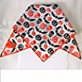 Premier Dog Pumpkin & Bats White Dog Bandana / Scarf
