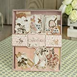 #7: AsianHobbyCrafts DIY Card Making Kit by Eno Greeting (SCB002): Designer card,Envelop,Assorted Embellishment for Scrapbooking, Gift for Valentines Day.