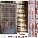 PVC-Türvorhänge Modell Perla - Eichmaß 100X220 / 120X230 / 130X240 / 150X250 - Fliegenvorhang - Kunststoff-Vorhänge - Made in Italy (80X200, Matt mehrfarbig)