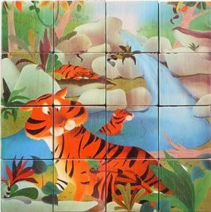 Voila - Puzzle de Madera de 16 Piezas