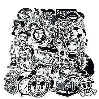 YGSAT 100Pcs Aufkleber Pack|Graffiti Sticker|Vinyl Aufkleber|Vinyl Stickers|Schwarz Weiß Graffiti Decals für Notebook Skateboard Snowboard Gepäck Koffer MacBook Auto Fahrrad Stoßstange