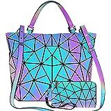 GUIFIER Leuchtende Umhängetasche Handtaschen & Geldbörsen, Farbwechsel Geometrische Pailletten Reflektierende Tasche, Handtas