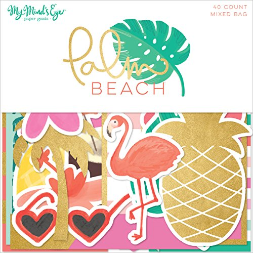 Paper Accents Cardstock (Palm Beach Mixed Bag Cardstock Die-Cuts 40/Pkg-W/Gold Foil)