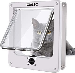 PETCUTE Gateras para Perros Puerta para Gatos Puertas para Perros Cerradura Autom/ática de Mascota Bloqueable para Mascotas