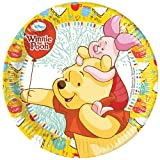 Disney 23cm Winnie the Pooh Party Teller, 8Stück