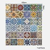 Haushalt Treppen-Aufkleber,Jaminy 6PCS DIY Kunst Treppenhaus Schritte Aufkleber abnehmbaren Treppen Aufkleber Home Decor Keramikfliesen Muster Selbstklebende (18cm x 100cm x 6pieces) (Mehrfarbig)