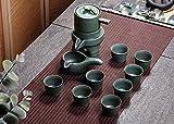 HYW Lazy Halbautomatische Zeit zu Tee Hersteller Stein Kreative Hause Keramik Kung Fu Tee-Set zu Laufen,Ein