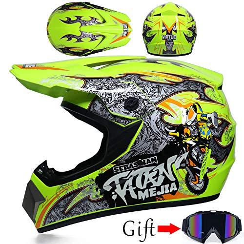 TOUKUI casco de motocross de carretera casco de moto capacidad de alta...
