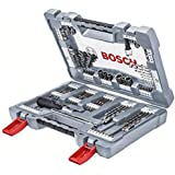 Bosch Professional 2608P00236 borrskruvmejsel bit set, silver, set med 105 stycken