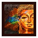 #8: Story@Home Beautifully Printed Buddha Wall Art Painting (Wood, 30 cm x 3 cm x 30 cm)