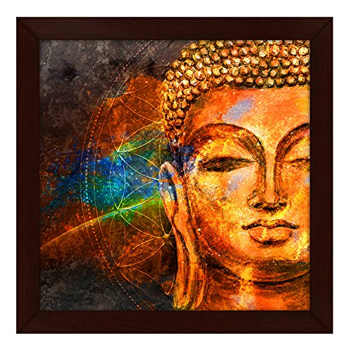 Story@Home Beautifully Printed Buddha Wall Art Painting (Wood, 30 cm x 3 cm x 30 cm)