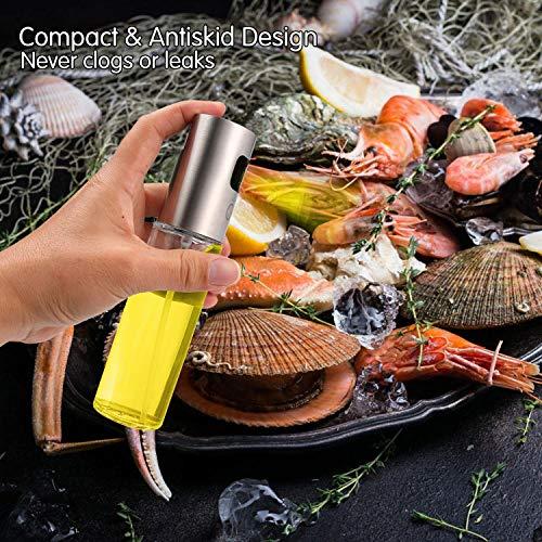 Nifogo Dispensador de pulverizador de Aceite Pulverizador Aceite Pulverizador de Aceite para cocinar, Preparación de ensaladas, Cocinar, Hornear, Asar, Asar, Freír