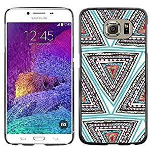 Omega Covers - Snap on Hard Back Case Cover Shell FOR Samsung Galaxy S6 - Hand Shape Pattern Teal Deep
