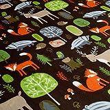 Forest - tissu polaire-flanelle douillet avec motifs animaux - Oeko-Tex® Standard 100 (au mètre)