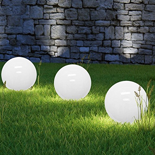 Sonderangebot des Monats 3 x LED Solarkugel Marla Kugelleuchte Solarlampe mit Erdspieß, Durchmesser 30 cm, Gartenlampe Kugelleuchte Dekoration
