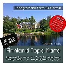 Finlandia Garmin tarjeta Topo 4GB. Mapa Topográfico de GPS Tiempo Libre para Bicicleta Senderismo Excursiones Senderismo Geocaching & Outdoor. Dispositivos de Navegación, PC & Mac