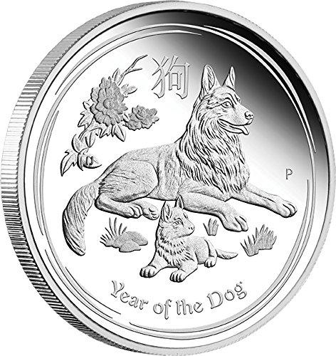 Power Coin Dog Jahr de Hund Lunar Year Series 1 Oz Silber Münze 1$ Australia 2018