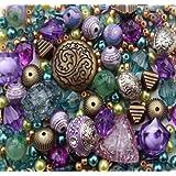 Eastern Promise Purple Turquoise Jewellery Making Starter Beads Mix Set - 80g