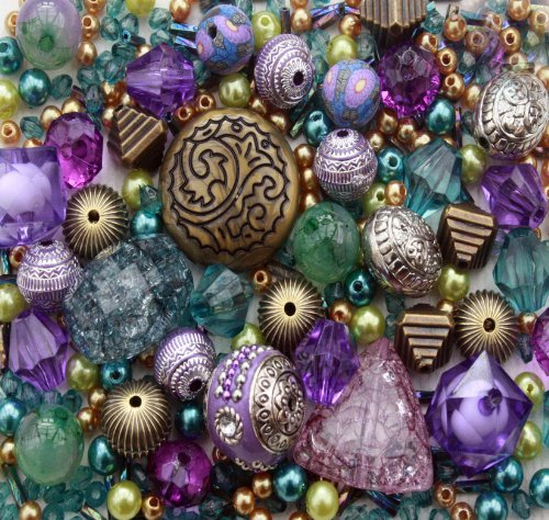 eastern-promise-purple-turquoise-jewellery-making-starter-beads-mix-set-80g