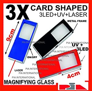 3X MAGNIFYING GLASS+TORCH+FAKE NOTE DETECTOR+RED LASER POINTER -PIA INTERNATIONAL