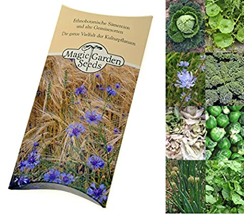 Seed kit: 'Winter vegetable plant seeds', 8 vegetable varieties that either grow well in low temperatures or store well for fresh consumption during wintertime, presented in a beautiful gift box