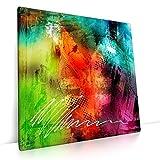 CanvasArts Colorful - Leinwand Bild auf Keilrahmen Wandbild abstrakt bunt modern 05.101 (90x90 cm, einteilig)