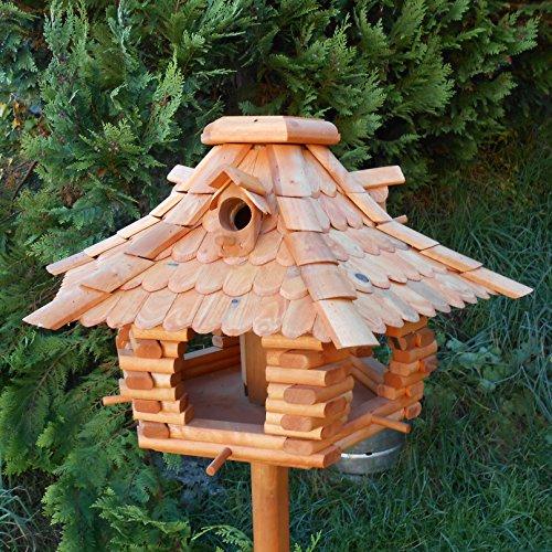 Großes Vogelhaus Futterhaus Vogelhäuschen --Wetterschutz-- K22 B
