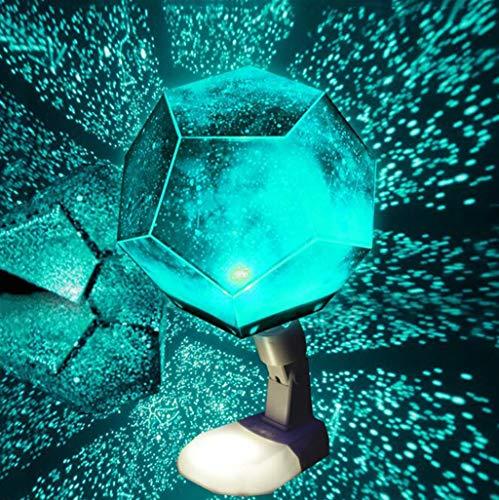 Konstellation Projektor Nachtlicht, 12 Konstellationen DIY Cosmos Sky Projection Tischlampe Wiederaufladbare Ideales Geschenk für Kinder, Frauen, Freunde