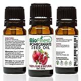 Biofinest Huile de graines de grenade Bio–100% Pure Pressée à Froid–Premium Qualité–Meilleur Soin hydratant pour cheveux, visage et la peau–Riche en antioxydants–gratuit e-book