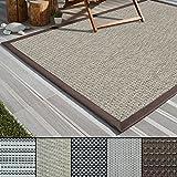 casa pura Outdoor-Teppich Eco-Beauty | mit Bordüre | Ideal für Terrasse, Balkon, Garten, Küche, Flur | aus Kunststoff Wetterfest und rutschsicher | Viele Größen und Farben (Verona, 200x290 cm)