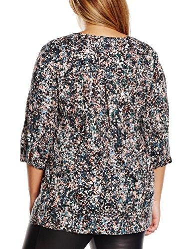 Ulla Popken Damen Bluse Shirtbluse mit Blumendruck Große Größen Mehrfarbig (multicolor 90)