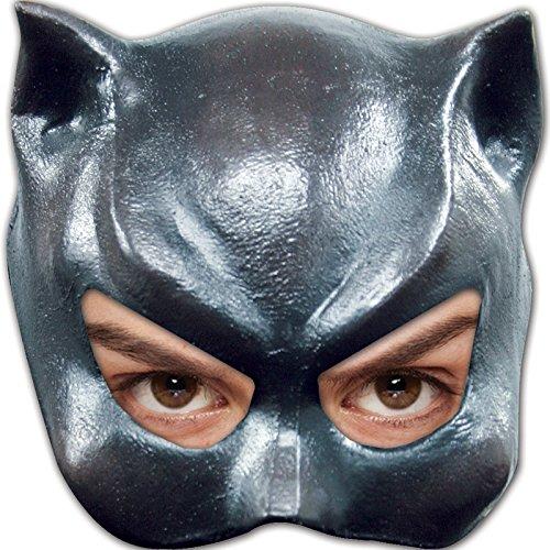 Mahal603 Damen Halbmaske Katze, Latex–Einheitsgröße (Katze Maske Latex)