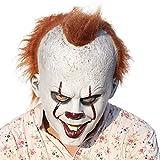 Masque intégral de clown effrayant avec cheveux, cosplay flm d'horreur