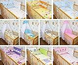6 tlg Baby Bettset mit Chiffonhimmel Bettwäsche Nestchen Bettausstattung D11