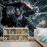 Avengers Captain America - Wallsticker Warehouse - Fototapete - Tapete - Fotomural - Mural Wandbild - (966WM) - XXL - 312cm x 219cm - VLIES (EasyInstall) - 3 Pieces