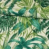 Dekostoff Blätter grün Canvasstoff Dekorationen - Preis
