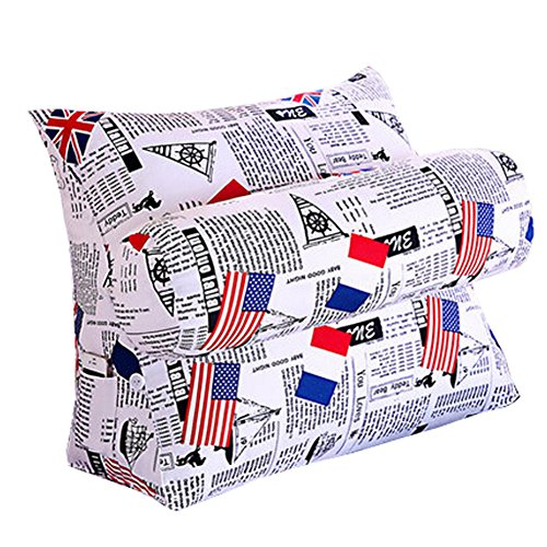 Home / Office Triangle Soutien lombaire Coussin dossier Oreiller, N