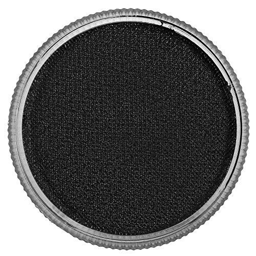 (Zerone 12 Farben Körperbemalung Pigment Professionelle Gesicht Wasserbasierte Matte Bühne Make-Up Zubehör(Black))