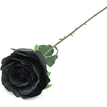 Artificial Alchemy England Oversized Black Rose Head